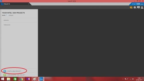 1. klik start project