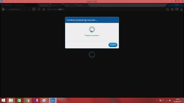11. tunggu proses hingga tampil emulator android