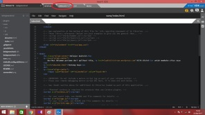 8. untuk menjalankan app klik simulate